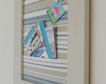 Stripy pin board with pocket