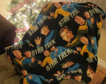 Star Trek Kirk and Spock Throw Blanket