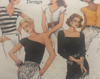 Vogue Basic Design Pattern no. 1734 - 1980s Misses Top Uncut Size 6 - 8 - 10