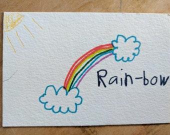 Rainbow Postcard - Proceeds go to an Animal Shelter!