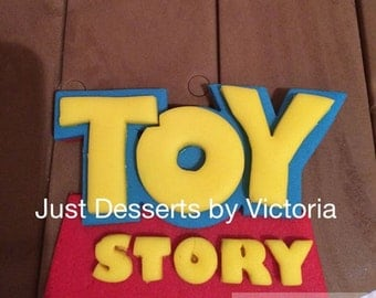 Toy Story Cake Topper and clouds set