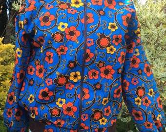 An African in Spring: Ankara Bomber Jacket