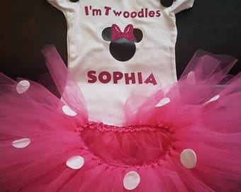 I'm twoodles Minnie birthday outfit