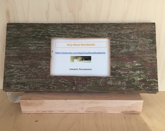 Rustic barnwood picture frame 4x6