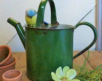 Vintage Six-Pint Enamel Watering Can (Stock#6582)