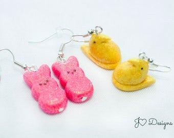 Easter Earrings, Candy Earrings, Bunny Earrings, Chick Earrings, Easter Basket Stuffers, Easter Gifts,