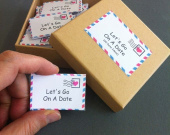 Date Night Box,  60 Date Night Ideas, Romantic Gift, For Wife, For Husband, For Girlfriend, For Boyfriend,Anniversary Gift,First Anniversary