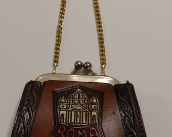 Vintage Roma Leather Coin Change Purse