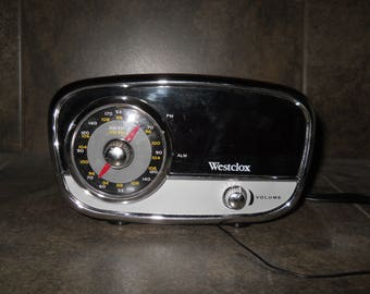 Vintage Westclox Model 80193 Alarm Clock Radio