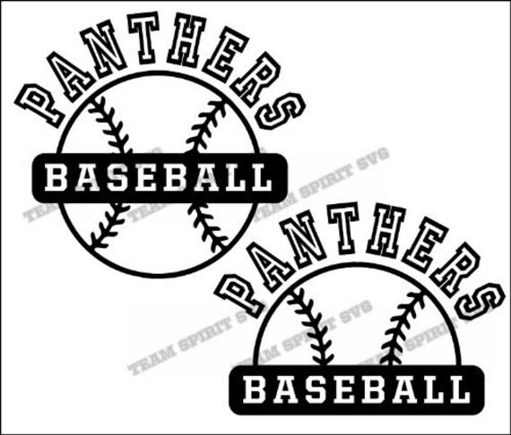 panthers 2 baseball outline download files svg dxf eps