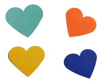 Wedding Decor heart mint trailer blue hearts table decorations place cards badge place card wedding yellow orange