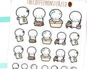spring cleaning emotis - emoti planner stickers E097
