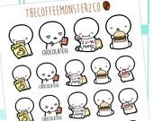 junk food emotis  - emoti planner stickers E128