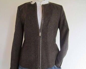 Vintage jacket Blazer jacket wool silk Cavita S