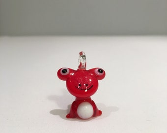 Red Frog Glass Pendant