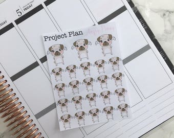 Angry Penny Deco Sticker Sheet (23 Project Plan Penny The Pug Decorative Stickers)