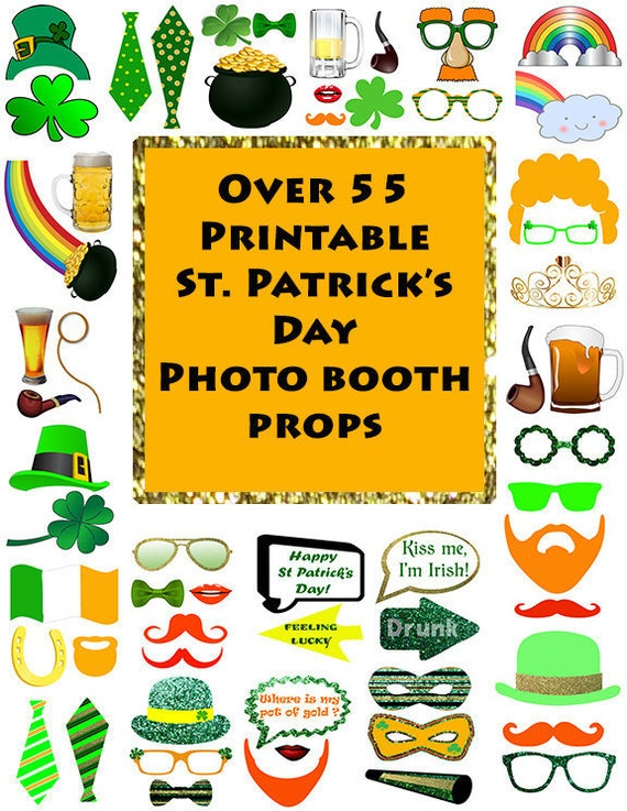 St Patricks Day Photo Booth Props Set
