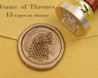 Game of Thrones Seal-House Stark Wax Seal Stamp Kit-Sealing Wax Kits-Wax Seal Stamp Kits-Custom Wax Seal Gift Box Package-Wax Stamp Seal Set