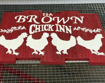Chicken Coop Pallet Sign- Custom