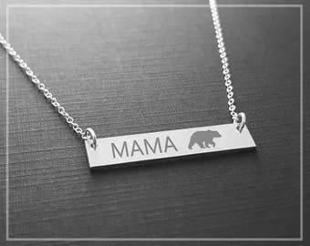 Mama Bear Necklace, Mama Bear Jewelry, Momma Bear Necklace, Mothers Necklace, New Mom Necklace