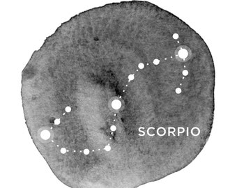 Scorpio || Astrology Zodiac || DIY Printable Wall Art - Instantly Downloadable Gift