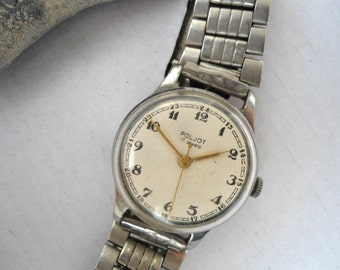 Soviet Men's Watch Poljot 1970's, Retro watch, mechanical, USSR, Russia