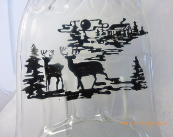 Cabin Life Melted Bottle Painting