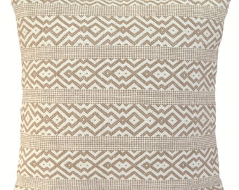 "Kilim Beige Cream Cushion Cover 50cm 60cm Cotton Indian Handmade 20"" 24"""
