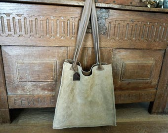 big leather bag brown