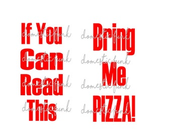 If You Can Read This Bring Me Pizza! (Silly Socks) Digital Download