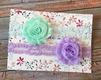 2 Baby Headbands/Baby Headband/Headband Set/Baby Headband Set/Newborn Headbands/Infant Headband/Baby Shower Gift/Headband Gift Set/Baby Bows