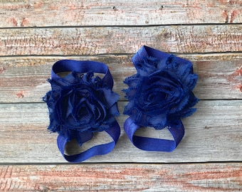 Blue Barefoot Sandals, Baby Barefoot Sandal, 4th of July, Fourth of July, Baby Shoe, Newborn Sandal, Baby Sandal, Baby Girl Shoe, Baby Shoes