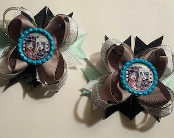 Monster High Girls Hair Bows.  Set of 2