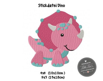 Embroidery design embroidery file Dino dinosaur of Stegosarus