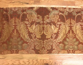 Antique Beautiful Late 19th C. French Woven Silk Damask (2040)