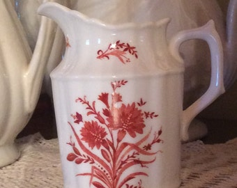 Vintage Royal Crown Derby Dainty Festival red pattern Creamer pitcher dining ware