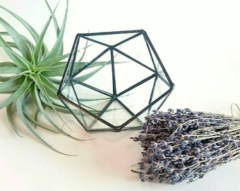 Terrarium/staindglass indoor planter/wedding  decoration/hygge Airplant container/Candle Holder/succulent planter/