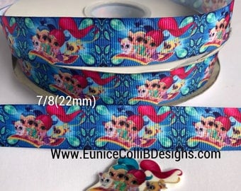 "7/8""Shimmer and shine inspired ribbon"