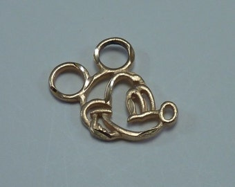 "14K  Disney Yellow Gold ""Mickey Mouse"" Pendant"