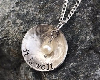 It is well hand-stamped, necklace