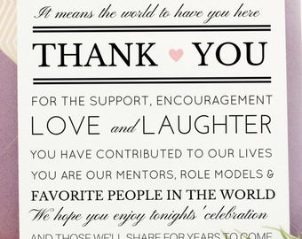 Wedding Thank You | Printable Thank You Card in 5x7  | Other Sizes Available including Poster | Attach to Wedding Gifts |  SKU# CWS310_4122