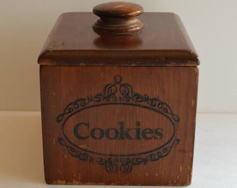 Wooden Cookies Box Jar