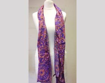 Baroque Silk Chiffon Scarf