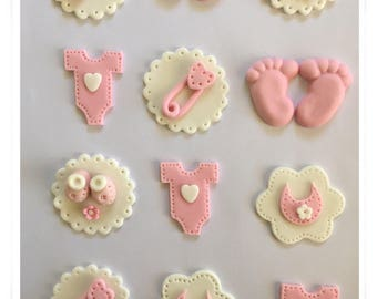 Set of 12 Baby Shower Cupcake Toppers