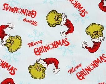 Merry Grinchmas Christmas Fabric for Robert Kaufman by the Half Yard