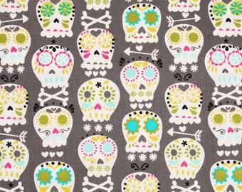 Bone Head Skull printed Fabric Michael Miller Fabric by the Half Yard