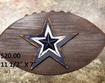 Rustic Cowboys Football Decor