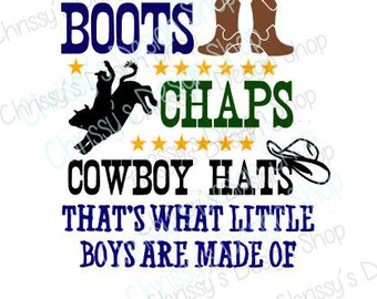 little boys are made of Cowboy svg / little boy svg / new baby svg / boy announcement svg / vinyl crafting / cowboy baby /  boy clip art