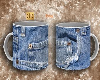 worn Jeans Mug