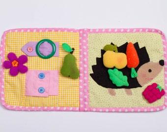 Baby quiet book Quiet book toddler Quiet book Busy book Busy board toddler Baby girl gift Baby girl toys Baby girl book Toddler gift Toys